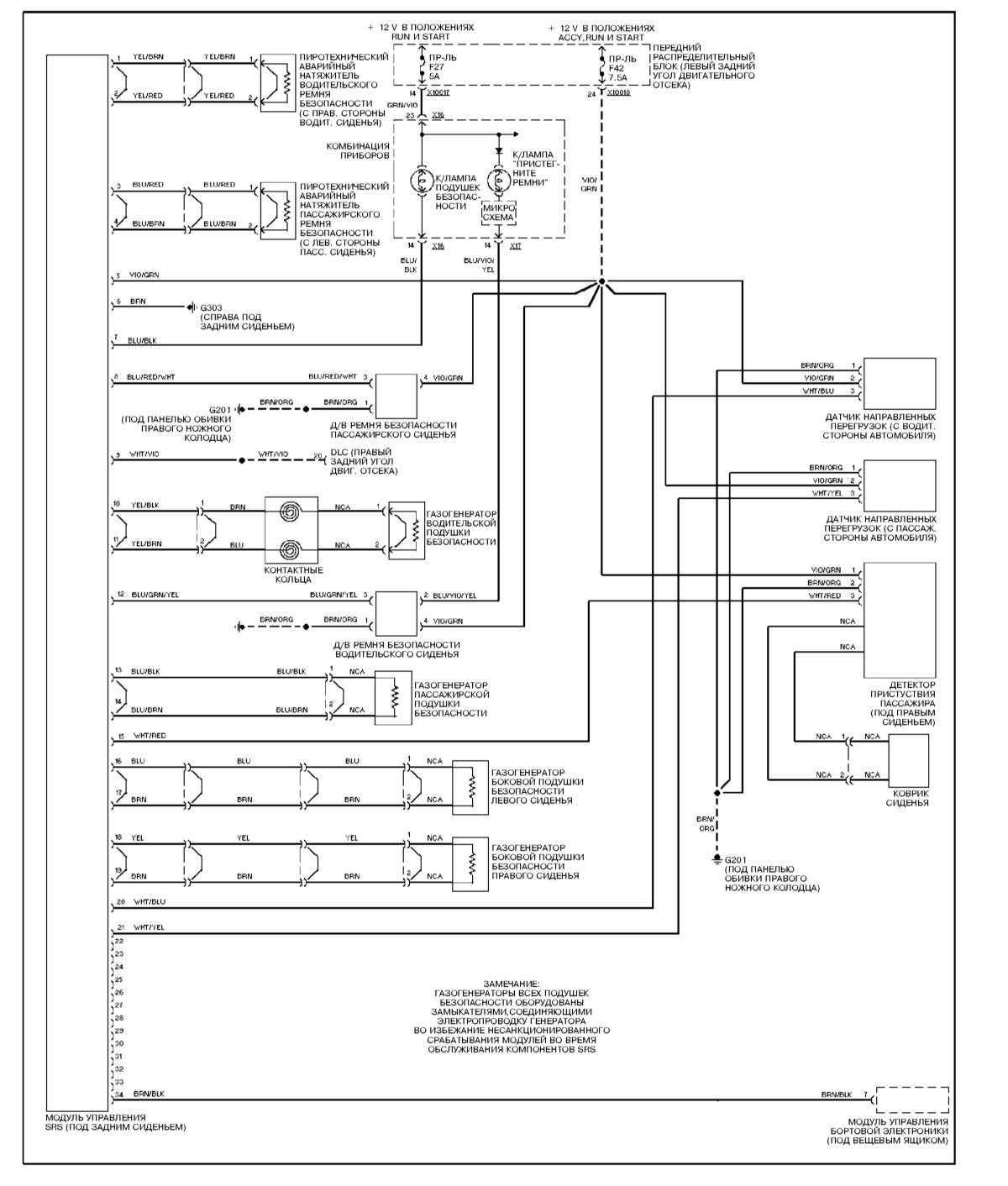 схема srs форд фокус 2