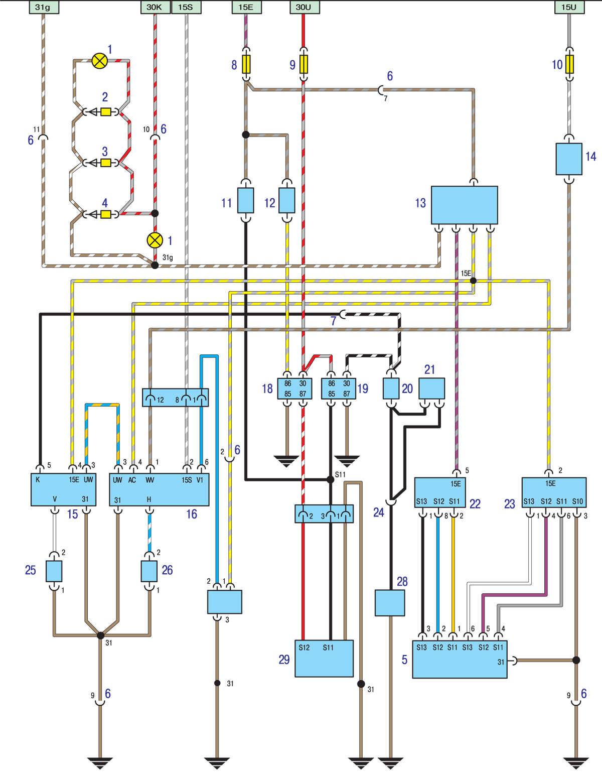Схема подключения вентилятора бмв е39