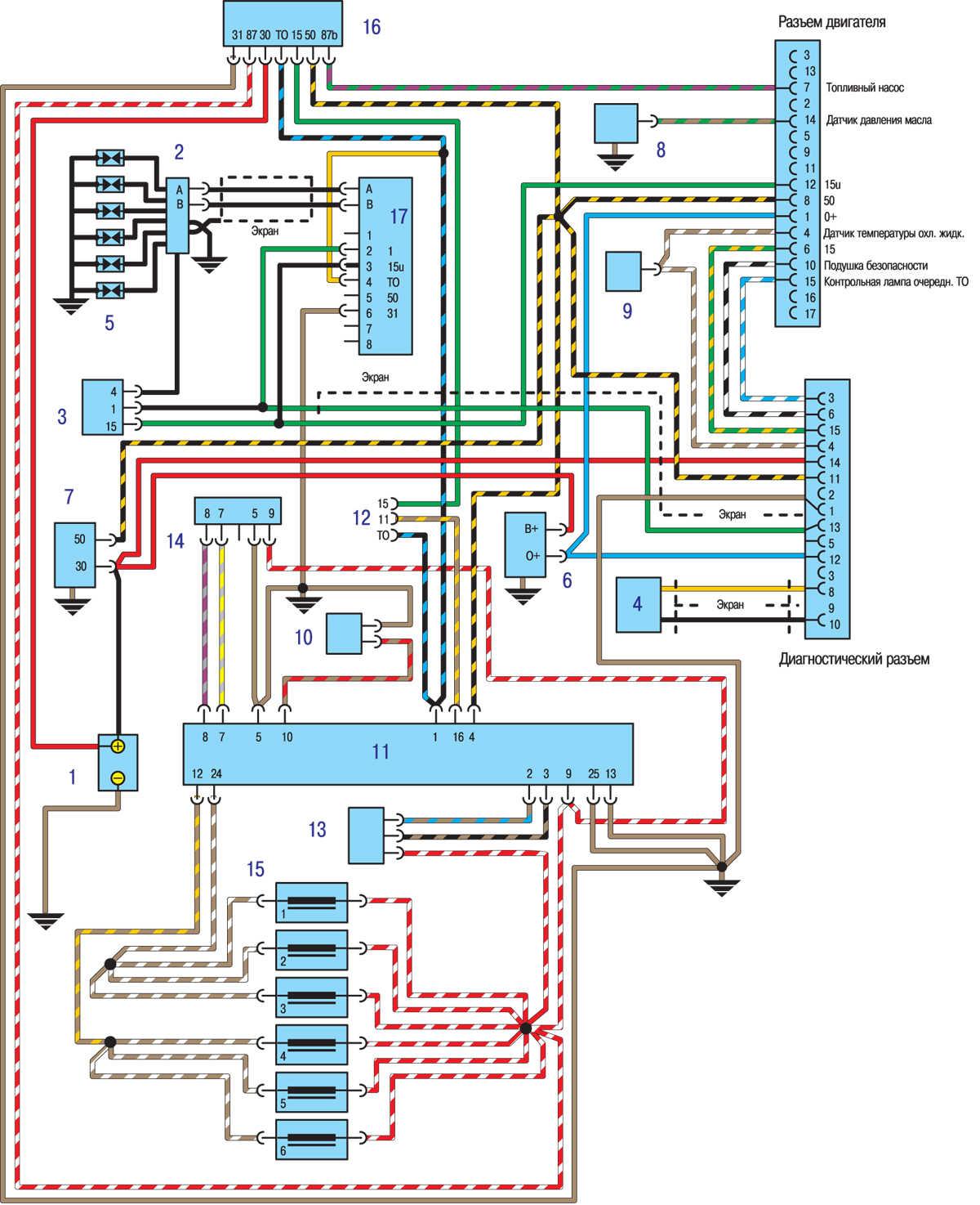 электрическая схема toyota yaris