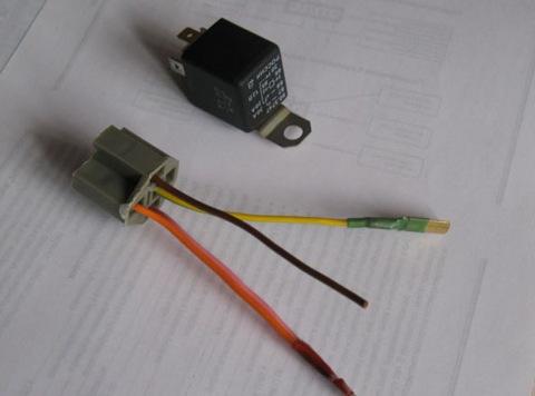 kkm44 - Схема подключения 5 контактного реле на противотуманки