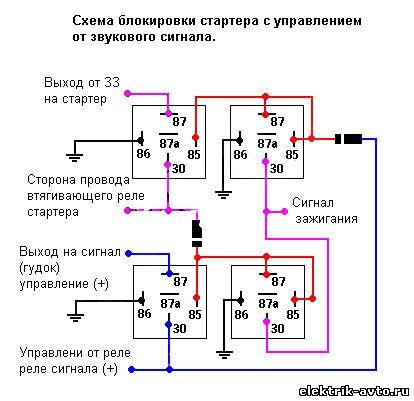 Схема кнопка блокировки