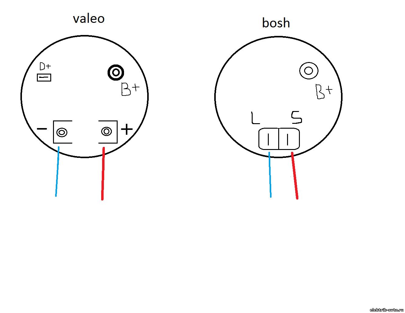 Схема подключения генераторов валео