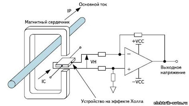 Схема датчика тока датчике холла