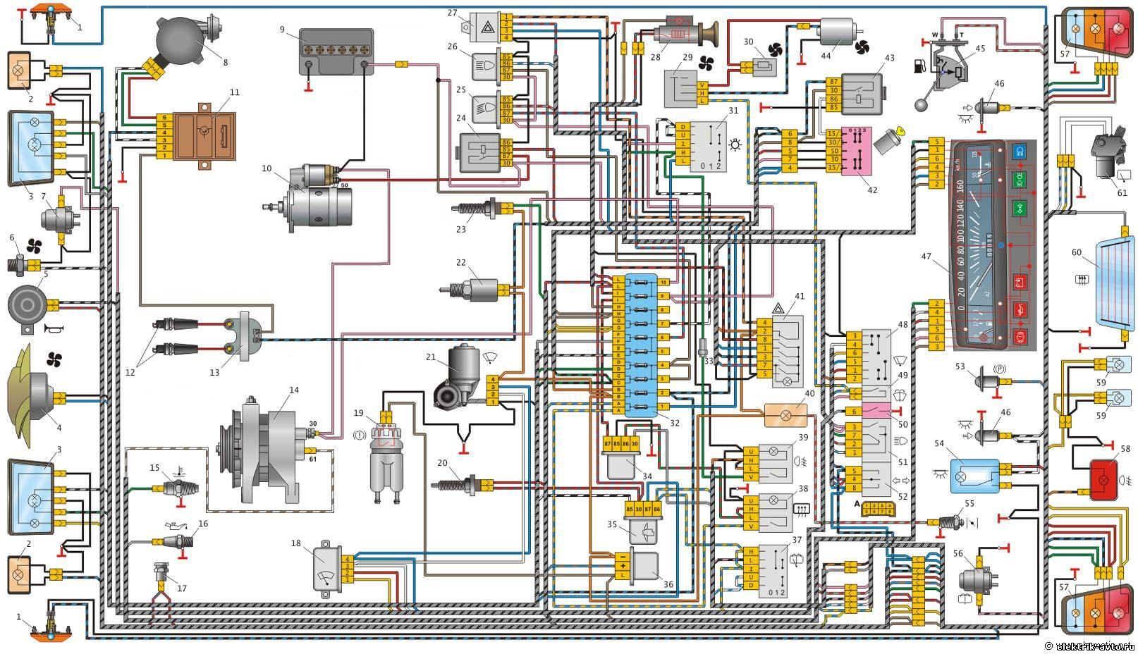 полная схема электрооборудования бмв е30