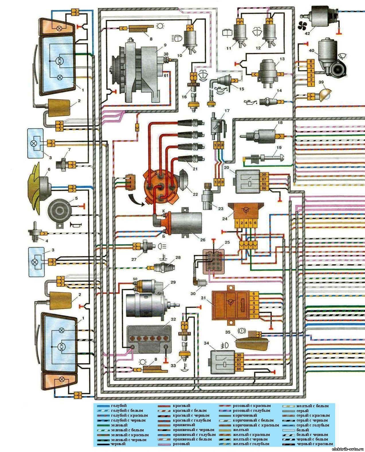 схема подключения огней стоп на ваз21093