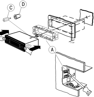 монтажа автомагнитола