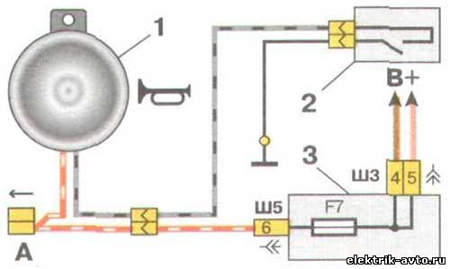 Схема звукового сигнала для