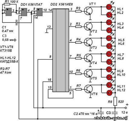 схемы светодиоды на панели